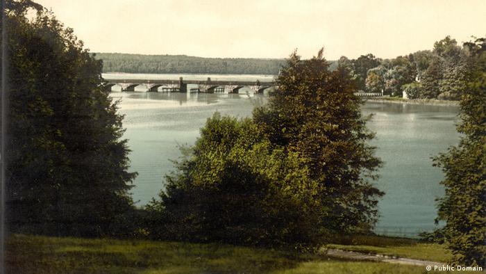 Каменный мост на реке Хафель в Потсдаме. Фотография 1900 года
