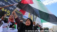 Gaza Stadt Demonstration Unterstützung Schlichtungsgespräche zwischen Hamas und Fatah in Kairo