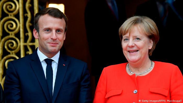 Deutschland Frankfurter Buchmesse 2017 Merkel und Macron vor Eröffnung