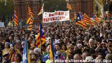 Spanien Parlament in Barcelona Großkundgebung