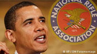 Symbolbild Obama und die Waffenlobby