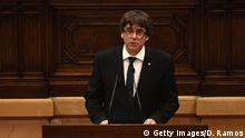 Spanien Parlament in Barcelona Carles Puigdemont