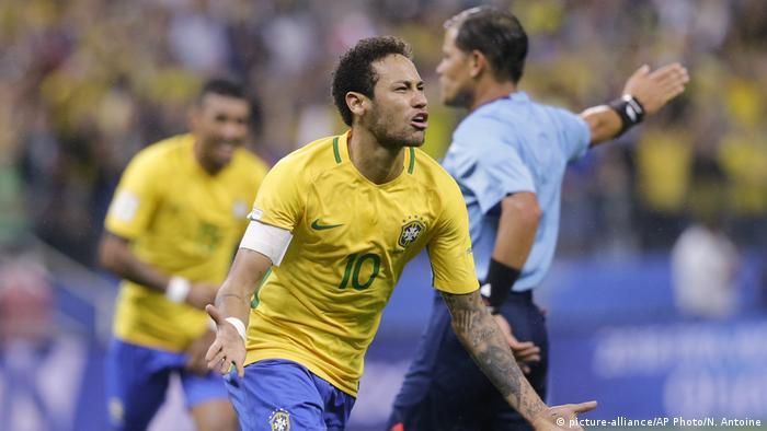 Fußball WM Qualifikation Barsilien - Paraguay Jubel Neymar Paraguay