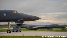 Japanisches Meer U.S. Air Force B-1B Langstreckenbomber