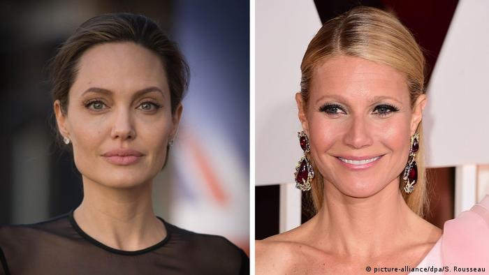 A atrizes Angelina Jolie (esq.) e Gwyneth Paltrow estão entre as que denunciaram os abusos de Weinstein