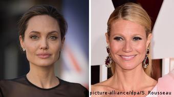 Schauspielerinnen Angelina Jolie & Gwyneth Paltrow (picture-alliance/dpa/S. Rousseau)