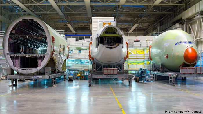 Airbus A380 under construction