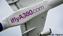 Demonstrationsflug eines A380 Aufnahme 2016 Ort unbekannt Copyright: Airbus photo by Master Films/P. Pigeyre Tag: Airbus A380
