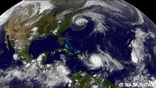 Satellitenbild Atlantik Hurricane Maria und Hurricane Jose