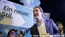 Österreich Wahlkampf Sebastian Kurz
