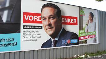Outdoor do candidato populista Heinz-Cristian Strache