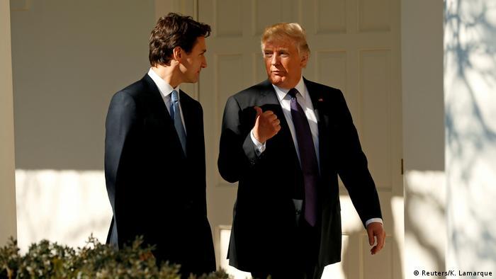 ایالات متحده آمریکا: ترامپ و ترودو درباره NAFTA صحبت کردند