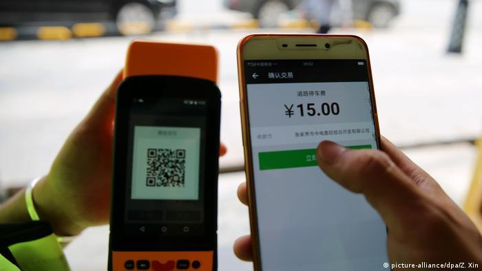 Pembayaran tanpa uang tunai di Cina