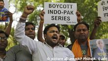 Indien Hindu-Nationalisten Cricket-Protest