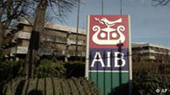 The Allied Irish Banks (AIB) headquarters in Dublin Wednesday, Feb. 6, 2002. Allied Irish Banks PLC, Ireland's biggest company, said Wednesday, that a missing foreign exchange dealer at its US subsidiary, Allfirst, was suspected of stealing dlrs 750 million through phony option deals.