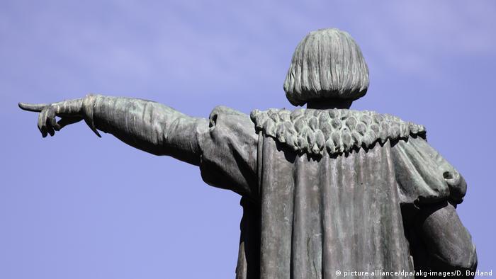 La estatua erigida a Cristobal Colón, en Barcelona.
