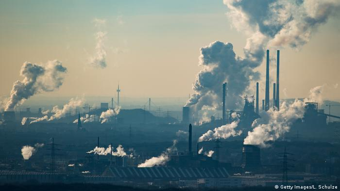 Greenhouse gas emissions over Germany (Getty Images/L. Schulze)
