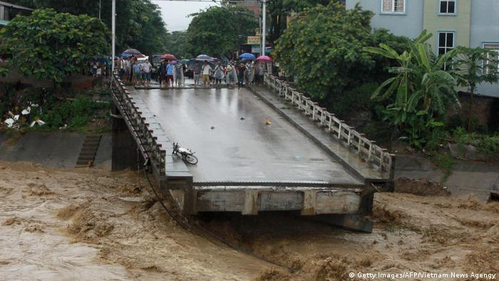 Rescue efforts have been hampered by landslides and floods that have cut off transportation routes (Getty Images/AFP/Vietnam News Agengy)