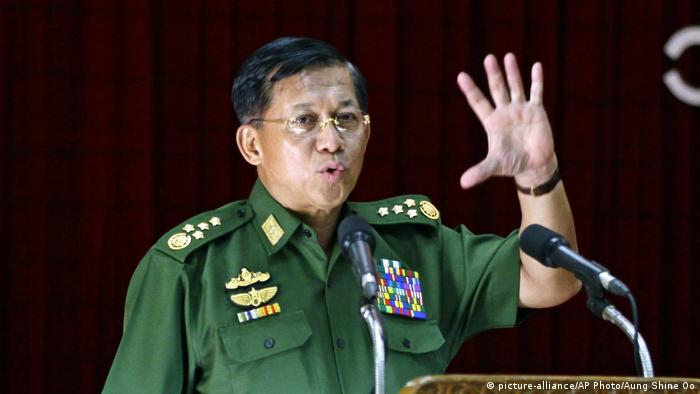 Myanmar General Min Aung Hlaing (picture-alliance/AP Photo/Aung Shine Oo)
