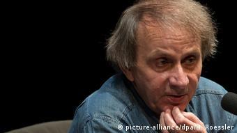 Porträt von Michel Houellebecq bei der Buchmesse Frankfurt.