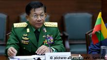 Myanmar Armee Chef Min Aung Hlaing (picture-alliance/dpa/V. Savitsky)