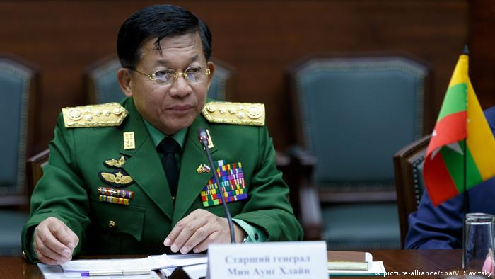 Armeechef Min Aung Hlaing (picture-alliance/dpa/V. Savitsky)