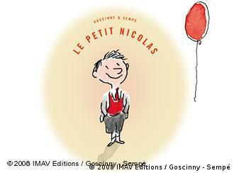 Das Buchcover zeigt den kleinen Nick mit einem roten Luftballon (Foto: IMAV Editions / Goscinny - Sempé)