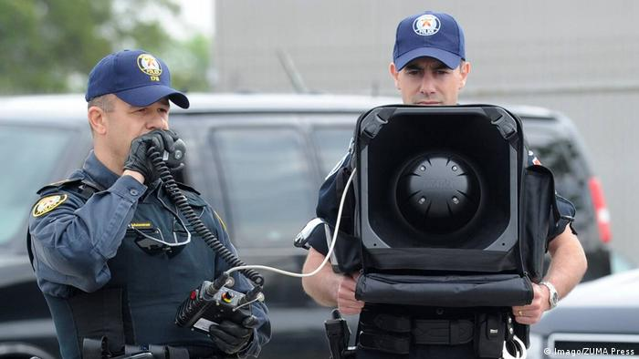 Kanada Polizei ong Range Acoustic Device LRAD (Imago/ZUMA Press)