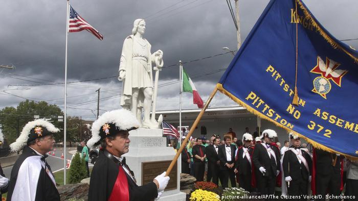Feierlichkeiten am Kolumbus-Tag in Pittston, USA (Foto: picture-alliance/AP/The Citizens' Voice/D. Scherbenco)
