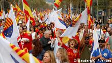 Barcelona National-Feiertag in Spanien