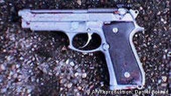 9mm Beretta pistol used for the attacks