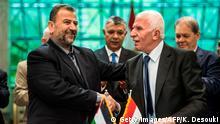 Ägypten Kairo Vetrags-Unterzeichnung von Fatah und Hamas
