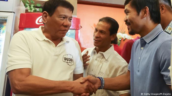 Rodrigo Duterte und Senator Manny Pacquiao (Getty Images/M.Dejeto)