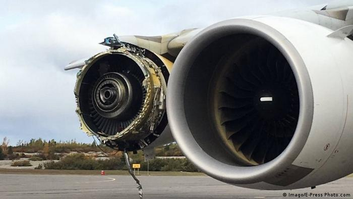 Kanada Notlandung Air France Airbus A380 - Explosion Turbine (Imago/E-Press Photo.com)