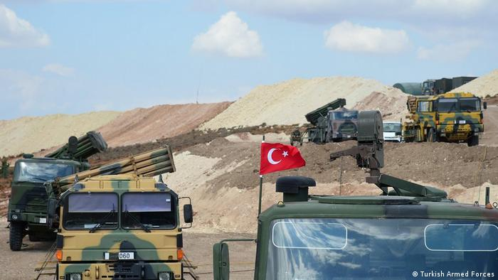 The Turkish military set up observation posts inside Syria.