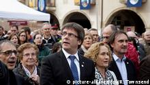Spanien Carles Puigdemont bei einer Demonstration in Amer