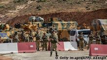 Türkei Grenze Syrien Idlib Provinz Armee