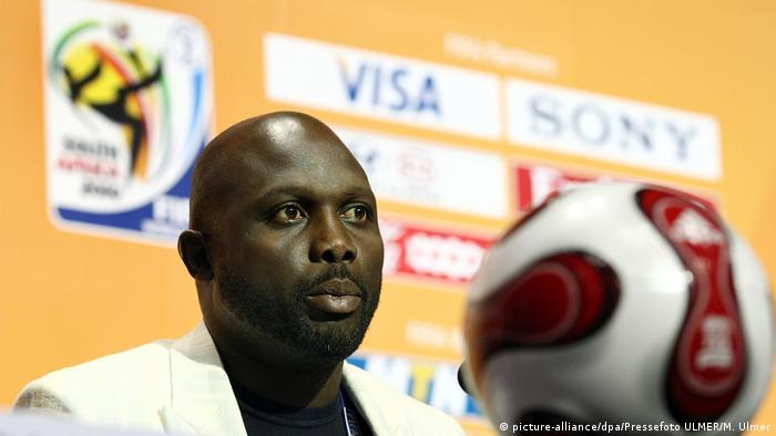 Fussball WM 2010 Qualifikationsgruppen - Auslosung Georg Weah