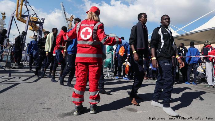 Беженцы в Палермо