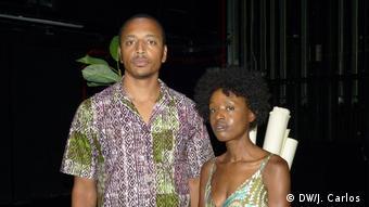 Nelson Martins und Lucília Raimundo, Schauspieler aus Angola und Mosambik