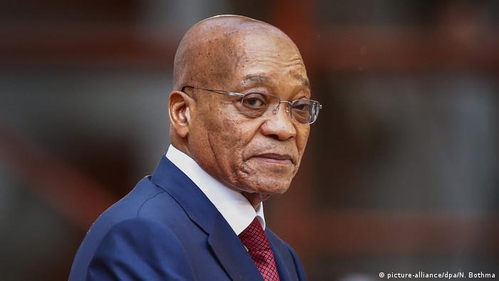 Portrait of South African President Jacob Zuma