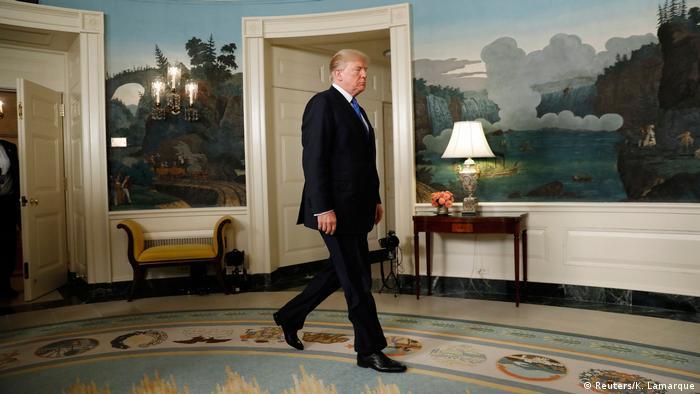 Президент Трамп у Білому домі перед початком виступу