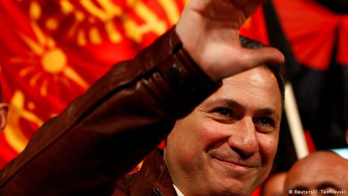 Mazedonien - Wahlkampf: Führer der Oppositionspartei VMRO-DPMNE Nikola Gruevski (Reuters/O. Teofilovski)