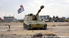 KIRKUK, IRAQ - OCTOBER 13: A military tank of Iraqi Army is seen in Bashir town in south of Kirkuk, Iraq on October 13, 2017. Ali Mukarrem Garip / Anadolu Agency |