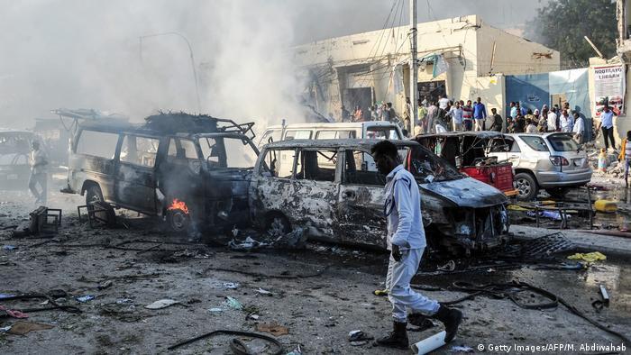 Somalia Mogadischu Bombenanschlag (Getty Images/AFP/M. Abdiwahab)