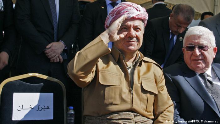 Massud Barzani and Fuad Massum