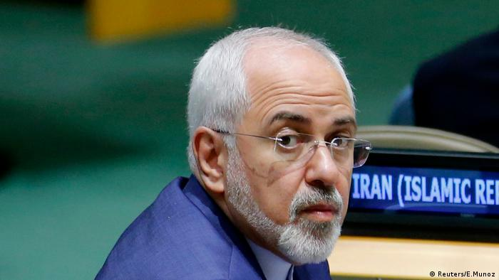 Iranian Foreign Minister Javad Zarif at the UN in September 2017