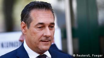 Лидер правых популистов в Австрии Хайнц-Кристиан Штрахе