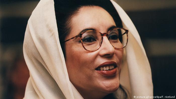 Benazir Bhutto - pakistanische Premierministerin 1996 (picture-alliance/dpa/T. röstlund)