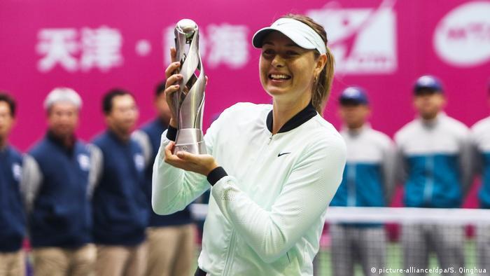 Tennis Tianjin Open Maria Sharapova (picture-alliance/dpa/S. Qinghua)